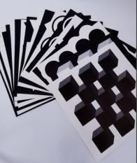 Thẻ kích thích thị giác trẻ sơ sinh Thẻ đen trắng dán tường