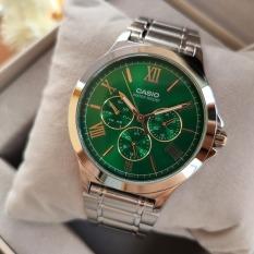 Đồng hồ nam Casio MTP-V300D-3AUDF Dây kim loại mặt xanh lá 6 kim độc đáo