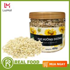 Hũ hạt hướng dương Mông Cổ thương hiệu Real Food Store (400g) – nguồn sản phẩm phong phú của các vitamin-khoáng-chất và tinh dầu tốt cho hệ thần kinh bảo vệ da và phòng chống các loại bệnh ung-thư…