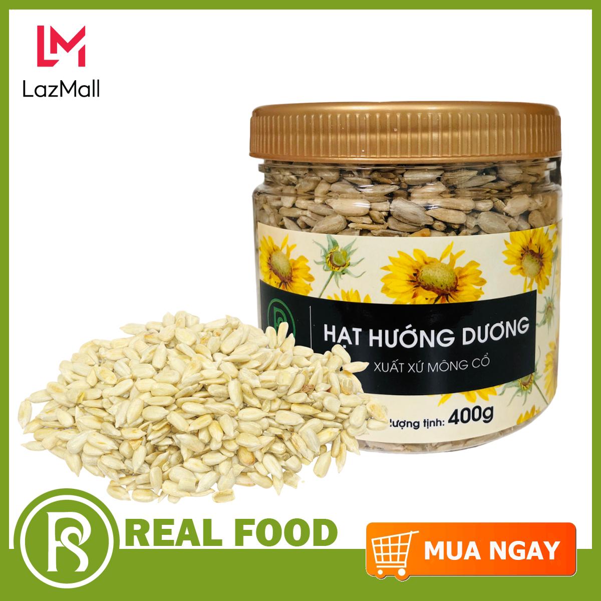 Hũ hạt hướng dương Mông Cổ thương hiệu Real Food Store (400g) - nguồn sản phẩm phong phú của các...