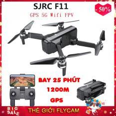 Máy bay Flycam SJRC F11. Động cơ không chổi than. Camera 1080p. Bay 25 phút. Khoảng cách bay 1200m FPV 500m ( sjrc z5, bugs 5w, bugs 2w, bugs 2se )