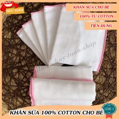 Combo 10 khăn sữa sơ sinh 2 lớp, Khăn sữa KIBA 100% cotton, Khăn sữa cho bé hàng Việt Nam, Khăn sữa kháng khuẩn (KIBA02) – Huy Tuấn