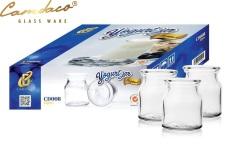 Hộp 12 Hũ Thủy Tinh Chịu Nhiệt, Chịu Lực Tốt Làm Sữa Chua 100ml CAMDACO GLASS WARE