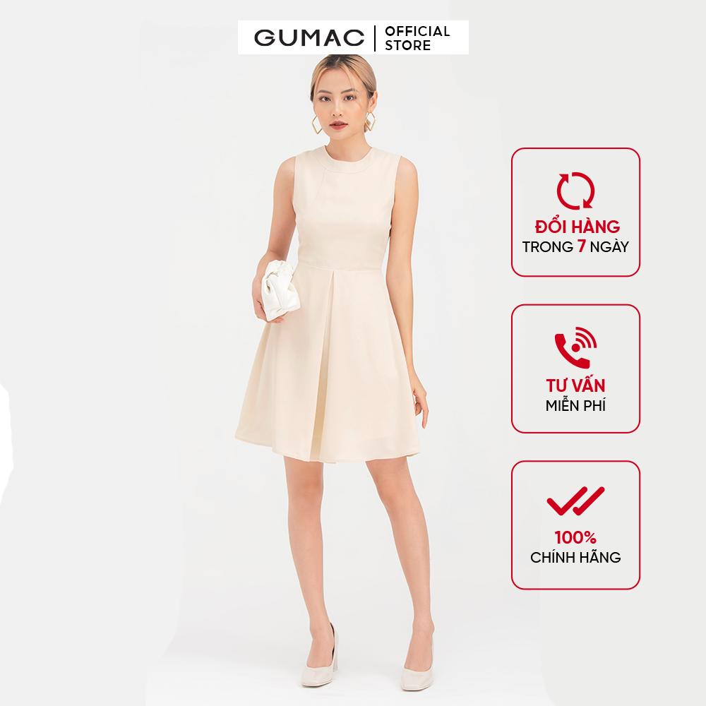 Đầm nữ xếp ly tùng DB768 mẫu mới GUMAC