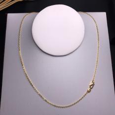 Dây chuyền bạc ta si vàng 18k dài 45cm