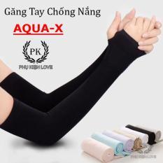 Găng tay chống nắng AQUA-X Hàn Quốc co giản tốt – Ống tay đi năng xỏ ngón Lets slim chống tia UV – PHỤ KIỆN LOVE