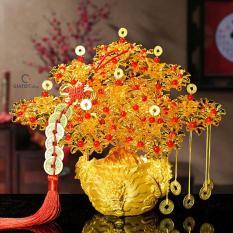 Cây cành vàng lá ngọc đế đầu rồng trang trí ngày tết