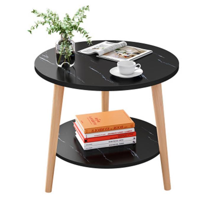 Bàn trà 2 tầng, bàn sofa 2 tầng,bàn cafe mini, bà trà trà góc 2 tầng, bàn trà sofa, bàn trà 50x50cm 2 tầng mặt gỗ giả vân đá cẩm thạch, homessen bàn trà gỗ vân đá