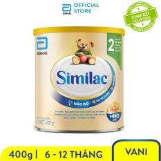 [GIẢM 50K ĐƠN 599K]Sữa bột Similac Eye-Q 2 HMO 400g Gold Label bé từ 6 – 12 tháng tuổi tăng cường sức đề kháng và hệ tiêu hóa khỏe mạnh