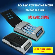 [Hàng chuẩn] Bộ sạc pin tiểu AA AAA PALO C905C, sạc nhanh thông minh tự ngắt có màn hình LCD – sử dụng chip công nghệ Đức