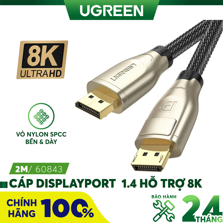 Cáp Displayport 1.4 hỗ trợ 8K dài 1-3M UGREEN DP112 - Hãng phân phối chính thức