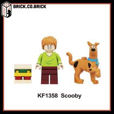 Minifigures và non lego nhân vật chú chó siêu quậy Scooby Doo và shaggy – Đồ Chơi Lắp Ghép Xếp Hình Mini Mô hình KF1358