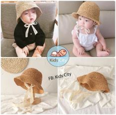 Nón cói cho bé phong cách Hàn Quốc Mũ Cói Mềm Cho Bé
