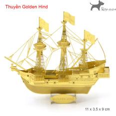 Mô hình thép 3D tự ráp mẫu tàu thuyền bản gold