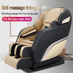 Ghế massage máy mát xa KAIMEIDI KM-Q9SL đa năng thông minh túi khí đầu mát xa cơ học 3D trục ghế SL (Màu đen phối vàng kim)