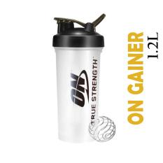 Bình lắc tập GYM Optimun Nitrition 1l2 Bpa free / Bình nước thể thao dung tích lớn