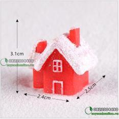 [Lấy mã giảm thêm 30%] Ngôi nhà tuyết trang trí noel giáng sinh. phụ kiện tiểu cảnh cây cảnh