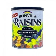 Nho khô không hạt vị thập cẩm Sunview Raisins Mỹ 425g – đồ ăn vặt