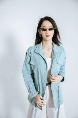 Áo măng tô cổ trụ cá vai CChat Clothes