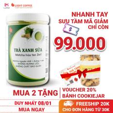 [MUA 2 TẶNG QUÀ] Bột trà xanh sữa 3in1, matcha xuất xứ Nhật Bản, hũ 550g, từ nhà sản xuất Light Coffee