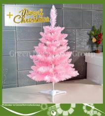 Cây thông noel màu hồng 60cm tặng kèm chữ Merry Christmas trang trí phòng sảnh cho nhà và cty văn phòng Greennetworks