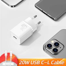 Dùng cho iPhone 12   Cốc Sạc BASEUS Mini 20W Super Si Sạc Nhanh dùng cho iPhone 12 iPad Xiaomi OPPO Vivo Vinsmart Huawei Đầu ra Type-C 2 Màu Trắng Đen tùy chọn