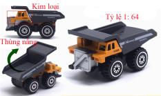 Đồ chơi mô hình xe ben mini KAVY kim loại tỷ lệ 1:64 an toàn cho bé có thể trang trí – màu vàng