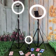 SALE-Bộ Đèn Live Stream 33cm – Đèn Led Chuyển Được 3 Màu , Bộ Đèn Led Tròn Livestream Ø 33cm – Trang Điểm – Chụp Ảnh – Xăm Nghệ Thuật – Siêu Sáng , Chân Đèn Có Thể Kéo Cao / Hạ Thấp / Gấp Gọn Có 3 Chế Độ Màu Trắng-Vàng-Trung Tính