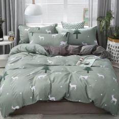Bộ drap cotton Korea 5 Món (Mền chần bông) Chritmast