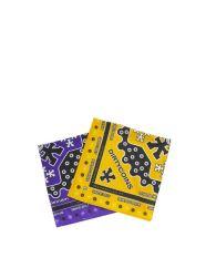 DIRTYCOINS Signature Pattern Bandana Pack – Purple/Yellow