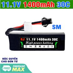 Pin 11.1v 1400mah 30C mã 501855 cho xe mô hình điều khiển