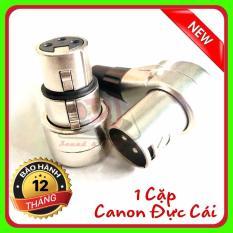 Combo 1 cặp Jack canon cong đực cái rắc canon đực cái giắt canon cong zắc âm thanh