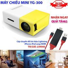 [TẶNG NGAY] Cáp chuyển tín hiệu Lightning ra HDMI khi mua Máy chiếu Mini cho điện thoại YG-300 hỗ trợ độ phân giải lên đến 1920 x 1080 pixel