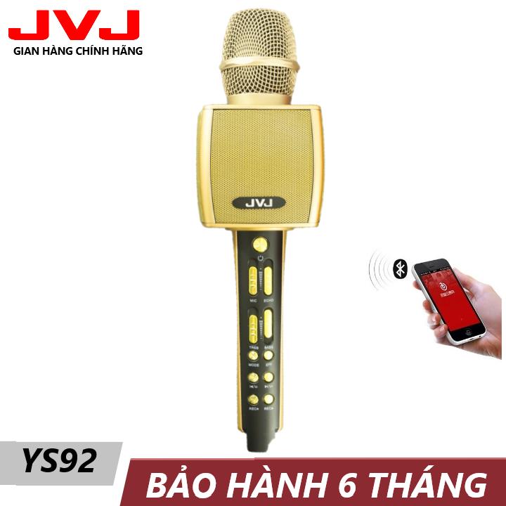 Micro karaoke bluetooth YS92 JVJ Không dây kèm loa 3 in 1 – hỗ trợ trợ thu âm, live stream giống như một sound card âm thanh loa lớn, bắt và nâng giọng tốt