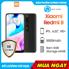 Điện thoại Xiaomi Redmi 8 RAM 4GB ROM 64GB – Sẵn Tiếng Việt, Hàng mới 100%, Nguyên seal, Chính hãng, Bảo hành 18 tháng