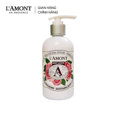 Sữa dưỡng thể Rose & Mulbery Whitening Body Lotion (hương hoa hồng) 250ml – L'amont En Provence