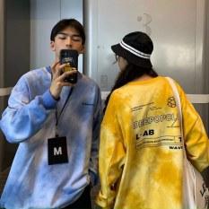 [HCM]Áo hoodies form rộng loang màu nam nữ cực chất áo hoodies đôi cặp nhóm chất mềm mịn thoải mái phù hợp mọi lứa tuổi