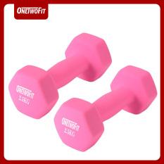 OneTwoFit tạ đơn 5kg,Bộ 2 tạ 2.5kg Dumbbell Thích hợp cho nam và nữ với tạ