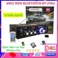 Âmly Bluetooth Đang Hot, Amply Mini Nghe Nhac Giá Rẻ – Công Suất 2 Kênh 600W, Hỗ Trợ Khe Cắm Thẻ Nhớ, Tự động lọc nhiễu và tạp âm , Âm thanh mượt mà – Âm ly hát karaoke được không – Chỉnh Amly Bluetooth – Yenny