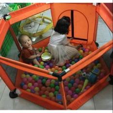 Lều quây bóng vải dù khung Inox tặng kèm 10 quả bóng cho bé
