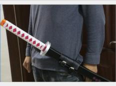 Đai đeo kiếm bằng da cho Kiếm nhật katana / kiếm kimetsu no yaiba / mô hình kiếm zozo / kiếm gỗ đồ chơi