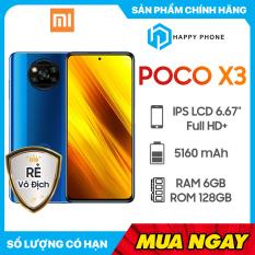 Điện thoại Xiaomi POCO X3 128GB/6GB)- Hàng Chính Hãng, Mới 100%, Nguyên Seal, Bảo hành 18 tháng