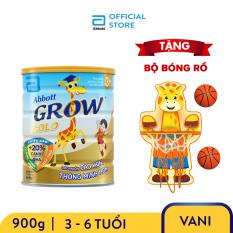 Lon sữa bột Abbott Grow 3+ 900g Tặng Bộ bóng rổ