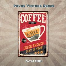 Tranh treo tường Pavas Vintage Coffee Shop có khung