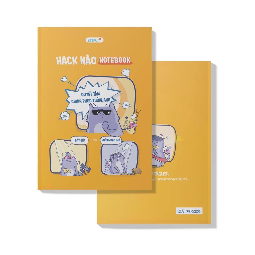 Combo 2 Sổ tay – Hack Não Notebook – Step Up English hữu ích cho học viên