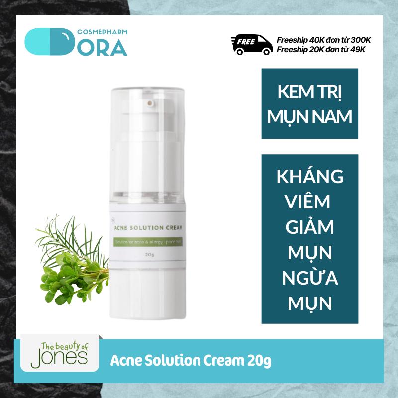 Kem giảm mụn cho nam chiết xuất Tràm trà Rau má Acne Solution Cream 20g (Date 3/2022 chọn 20ml, Date 5/2021 chọn 21ml)