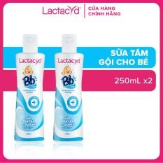 Bộ 2 chai Sữa Tắm Gội Trẻ Em Lactacyd Bb GIẢM RÔM SẢY và HĂM KẼ VƯỢT TRỘI 250ml/chai