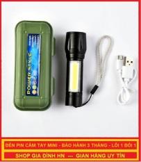 Đèn Pin Mini Cầm Tay Bằng Nhôm Siêu Sáng Cao Cấp Full Box – Bảo Hành 3 Tháng