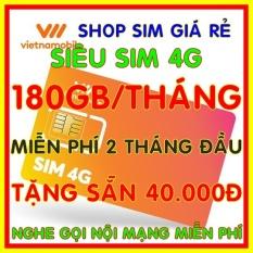 Siêu Sim 4G Vietnamobile có 180GB/Tháng – Đã có sẵn miễn phí sẵn 2 tháng đầu + Tặng Sẵn 40.000đ + Nghe Gọi Nội Mạng Miễn Phí – Shop Sim Giá Rẻ