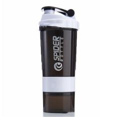 Bình Lắc Nhựa Spider 600ml – Màu Trắng – Chính Hãng Amalife – Bình Lắc Shaker Tập Gym, Tập Thể Thao